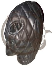 Leather Bondage Mask Hood Fully Padded and Cotton lining Inside