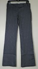WOMEN'S ELLEMENNO BLACK AND METALLIC STRIPE PANTS SIZE 7 NEW WITHOUT TAGS