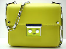 Authentic New Luana Italy Anais Mini Shoulder Chainlink Crossbody Absinthe Green