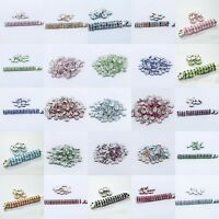 Silver Plated Rondelle Crystal Rhinestone AB Spacer Beads 6mm Findings 50/100pcs