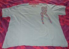Cherokee Faded Light Blue --  Union Flag Spice Girl - Tee Shirt XL - Used Good