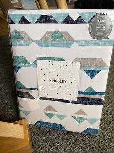 Kingsley Home Soho Blue Double Bed Set 100% Cotton