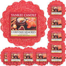 10 YANKEE CANDLE WAX TARTS Christmas Memories  XMAS MELTS festive