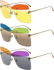 Fendi Karligraphy Women's Rimless Butterfly Shield Sunglasses FF0399S - Italy