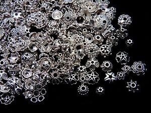 Mixed Tibetan Silver Bead Caps Mixed Size & Design Jewellery Findings Beading ML