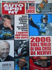 Autosprint n°1 2006 L'anno che verrà  Fernando Alonso Benetton[P24]