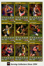 2007 AFL Teamcoach Trading Card Gold Team Set West Coast (13)