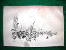 A Napoli nel 1882 - La Festa di Piedigrotta (disegno del signor E. Matania)