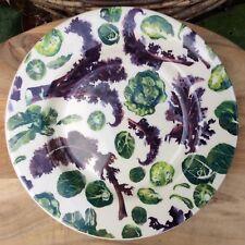 "EMMA BRIDGEWATER . Winter Sprouts & Kale . 8-1/2"" PLATE Vegetable Garden"
