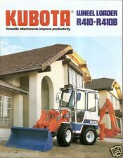 Equipment Brochure - Kubota - R410 B - Wheel Loader - c1989 (E1776)