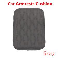 Grey PU Leather Car Auto Armrest Pad Cover Center Console Box Cushion Universal