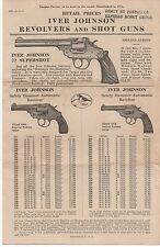 1927 Iver Johnson Revolvers & Shot Guns Advertising Brochure