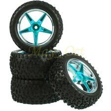 4x 1/10 HSP Off-Road Buggy Front Rear Wheel Rim Tyres,Tires Sponge Insert 66154