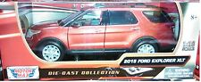 2015 Ford Explorer XLT Diecast SUV 1:18 Motormax 10 inch RED WINE