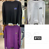 BTS BT21 Official Authentic Goods Space Squad Sweat Shirts 3Color Type + Track#