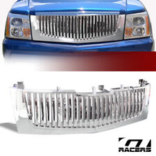 For 2002-2006 Cadillac Escalade Chrome Vertical Front Hood Bumper Grill Grille (Fits: Cadillac)