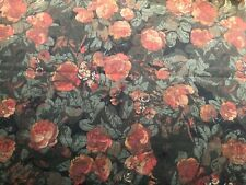 Ralph Lauren Curtain Fabric 'Harriet Floral Antique' 2.5M Cinder