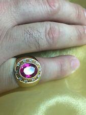 18K Yellow Gold Mens Diamond  Pinky Ring