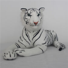 Large Tiger Plush Animal Realistic Big Cat white Bengal Soft Stuffed Toys Pillow
