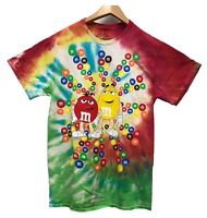 M&M's Men's Chocolate Candy Graphic Tie Dye Licensed T-Shirt New