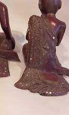 Antique Vintage Pair of Asian / Chinese Buddist Monk Boy Figures x 2.