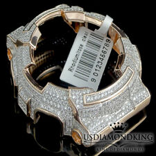MEN'S WOMENS CUSTOM G-SHOCK BEZEL 14K ROSE GOLD FINISH DIAMOND SIMULATED GA 100
