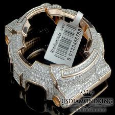 MEN'S WOMENS CUSTOM G-SHOCK BEZEL 14K ROSE GOLD FINISH DIAMOND SIMULATED GA 100