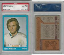 1973 Topps Hockey, #51 Bert Marshall, Islanders, PSA 8 NMMT