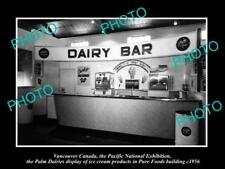 OLD HISTORIC PHOTO OF CANADA INDUSTY, VANCOUVER, THE PALM DAIRIES ICE CREAM 1956