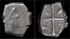 Celtic Gallia South West Gaul Volcae Tectosages AR drachm à la tête cubiste