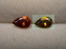 very rare Color Change Bastnasite gem Pakistan Yellow Orange Bastnaesite pear
