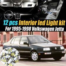 12Pc Super White Interior LED Light Bulb Kit Package for 1995-1998 VW Jetta