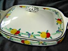 J & G MEAKIN HAND PANTED TUREEN AND LID--SOL