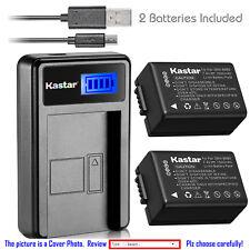 Kastar Battery LCD USB Charger for Panasonic DMW-BMB9 & Panasonic Lumix DMC-FZ40