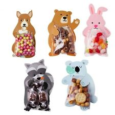 Animal Candy Cookie Gift Bags 10pcs Baby Shower Birthday Party Packaging Bags