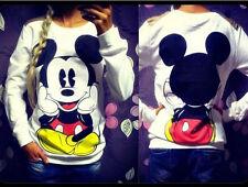 Women Mickey Mouse Pullover Jumper Hoodie Long Sleeve Sweatshirt T-shirt Blouse