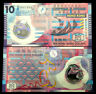 Hong Kong 10 DOLLARS - POLYMER Banknote World Paper Money UNC Currency Bill Note