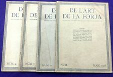DE L'ART DE LA FORJA - 1st 4 issues 1918 BARCELONA - (ed) SAGARRA  (BLACKSMITHs)