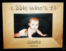 Personalized Engraved 4x6 Picture Frame, 1st Birthday