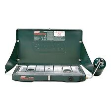 NEW & SEALED! Coleman Two-Burner Propane Stove with WindBlock System Shields