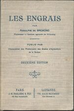 1900 livre ancien Les Engrais chimiques agriculture suisse Rodolphe De Bremond