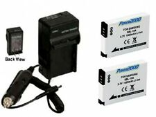 TWO 2 Batteries + Charger for Samsung EC-WB150FBPBUS EC-WB150FBPWUS