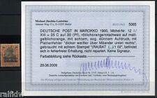 DP Marokko 35 C. Reichspost 1900 mit Plattenfehler Befund (S8022)