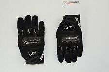 Alpinestars SMX-2 Air Carbon V2 Leather Street Motorcycle Glove-BLACK-SMALL