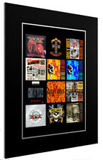 More details for mounted / framed print guns n' roses discography - different sizes poster print
