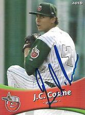 J.C. Cosme 2016 Fort Wayne Tincaps Signed Card