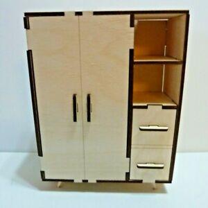 1:12 Scale Doll House Furniture Wardrobe Set-Mid Century Modern