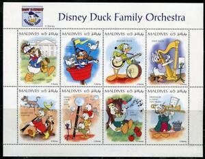 Maldives: 1994 Disney Duck Family Orchestra Mini-Sheet (2059) MNH