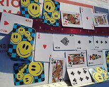 MINI SMILE FACE PLAYING CARDS 2.5 in LOT OF 12, CARNIVAL TOYS, PARTY FAVORS