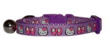 """purple  pink bows hello kitty  kitten  cat safety  collar  7""""-10"""""""